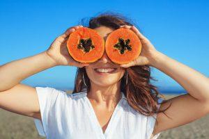 bevare brunfargen med papaya