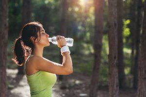 vann for å gå ned i vekt