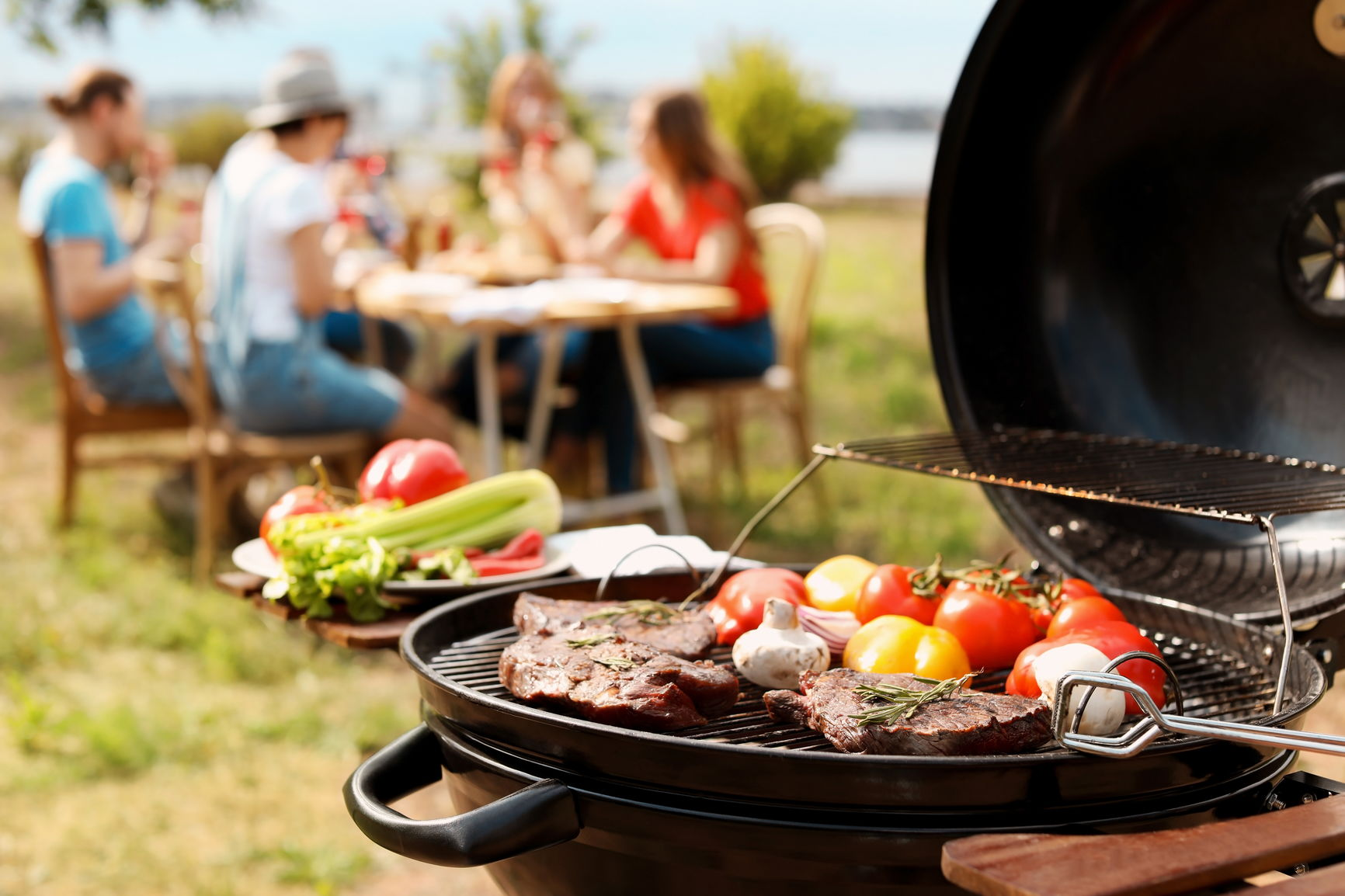 social gathering with healthy BBQ alternatives